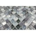 Carrelage mosaique verre et pierre 1 plaque MEZZO