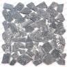 carrelage galets en marbre pour sol et mur douche Oria Gris