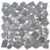 Mosaic pebbles marble floor and wall tiles Oria Gris