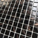Mosaico pasta de vidrio azulejo pasta de vidrio 1 placa modelo Speculo Noir