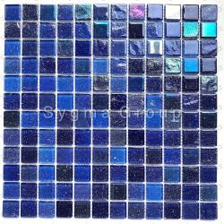Mosaico de vidrio azulejos de pared Mosaico de cocina y baño Habay Bleu