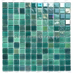 Tile glass mosaic wall mosaic kitchen and bathroom Habay Vert