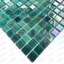 Mosaique carrelage de verre murale cuisine et salle de bains Habay Vert