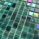 Tile glass mosaic wall mosaic kitchen and bathroom Habay Vert