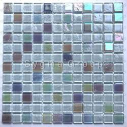Carrelage mural pour salle de bains ou cuisine en verre Habay Blanc