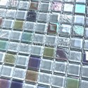 wall tiles for bathroom or kitchen glass tiles Habay Blanc