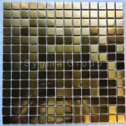 Carreaux mosaique en inox pour mur ou sol CARTO GOLD