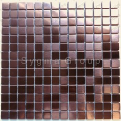 Stainless steel copper color mosaic wall or floor tiles CARTO CUIVRE