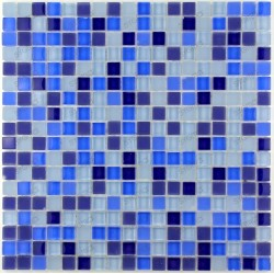 Tile mosaic glass backsplash glass shower IRIS