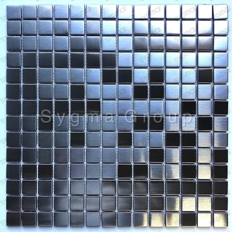 mosaique en metal inox pour mur ou sol CARTO