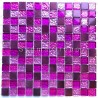 Sheet Glass and aluminium mosaic Nomade Fuchsia