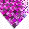 mosaico aluminio y vidrio frente cocina ducha baño Nomade Fuchsia