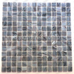 Mosaic wall and floor tiles in glass bathroom and shower Speculo Charron