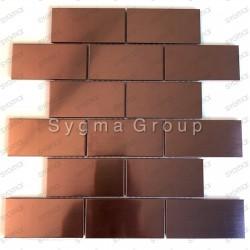 Tiles and steel mosaic for kitchens backspalsh copper color LOFT CUIVRE