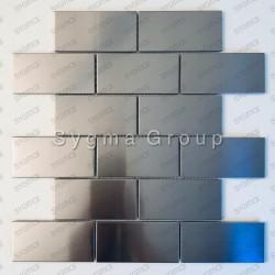 tiles stainless steel mosaic stainless steel backsplash stainless LOFT