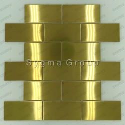 carrelage mural en acier pour cuisine ou salle de bains LOFT GOLD