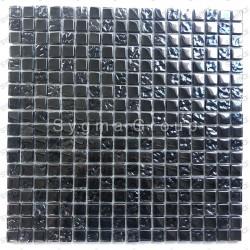 Mosaique noir en verre murale de cuisine et salle de bain Kerem