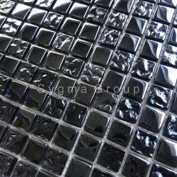 Black glass mosaic wall mosaic for kitchen and bathroom Kerem