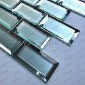Subway wall tiles for kitchen or bathroom in mirror and frosted glass Lazarre