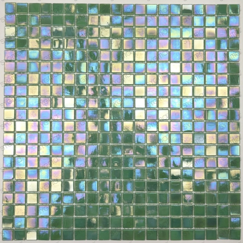 pate de verre mosaïque Imperial Vert