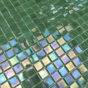 Mosaic glass wal and Floor Imperial Vert