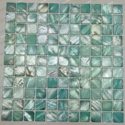 mosaic of Pearl tile shower bath Pearl Nacarat Vert