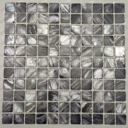 azulejo de mosaico de perlas perlas de baño Nacarat Gris
