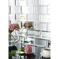 Metro tile mirror glass mosaic for kitchen backsplash Scott