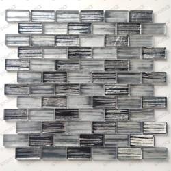 Azulejos y mosaicos de vidrio para paredes de cocinas y baños Haines Gris