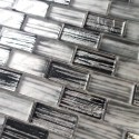 Glass tiles and mosaics for kitchen and bathroom walls Haines Gris