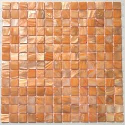carrelage mosaique de nacre salledebain et douche Nacarat Orange