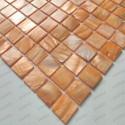 mosaic tile of Pearl tile shower bath Pearl Nacarat Orange