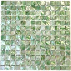 carrelage mosaique en nacre modele Nacarat Vert