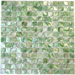 Shell mosaic tile kitchen and bathroom Nacarat Vert