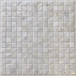 azulejo de mosaico de perlas perlas de baño Nacarat Blanc