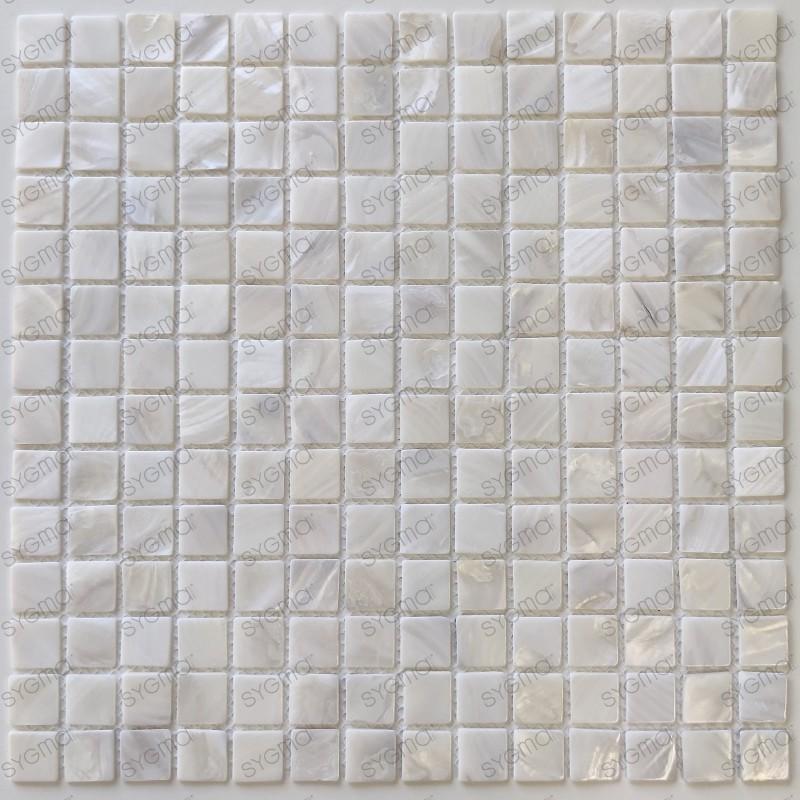 mosaic tile of Pearl tile shower bath Pearl Nacarat Blanc