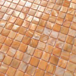 carrelage mosaique de nacre salledebain douche 1m Nacarat Orange