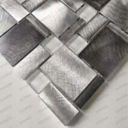 credence cuisine aluminium mosaique douche aluminium JARROD