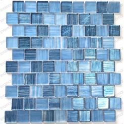 Mosaico de vidrio para ducha bano y cocina Drio bleu