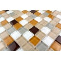 Mosaique carrelage verre 1 plaque HONEY