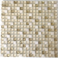 Tile mosaic glass and stone 1 sheet Luxury