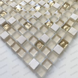 Mosaico de vidrio y baldosas de piedra 1 placa Luxury