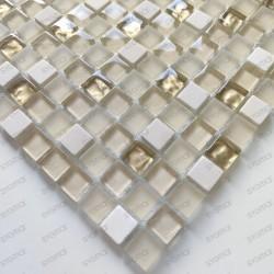 Tile mosaic glass and stone 1 sheet Luxury