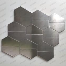 stainless steel backsplash kitchen mosaic shower Kyoko