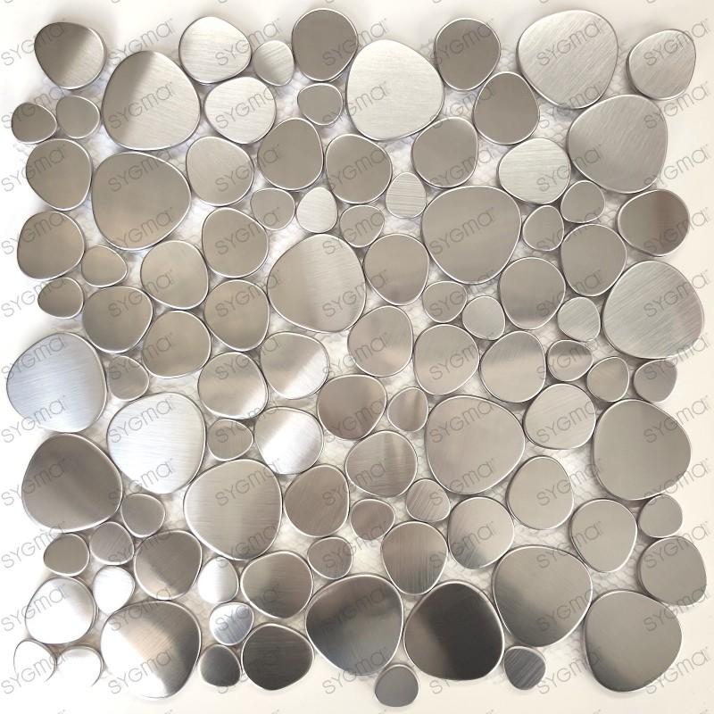 Galets de mosaique en inox pour sol ou mur douche et salle de bains Atoll