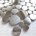 Pebble kitchen stainless steel splashback or bathroom Atoll