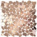 mosaico acero inoxidable cocina ducha Galet Cuivre