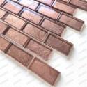 Azulejo de vidrio color cobre para baño y cocina Nikos