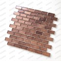 Copper colored glass tile for bathroom and kitchen Nikos
