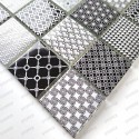 Malla Mosaico de vidrio para muro y pared bano y cocina mv-salax